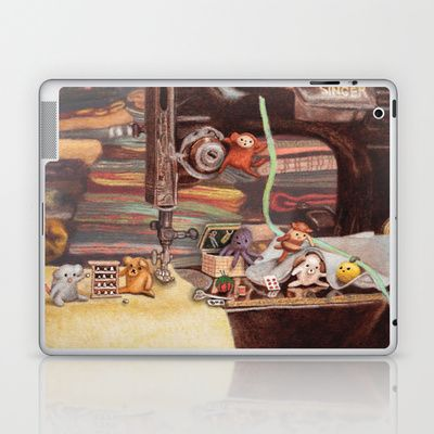 Critter Sewing Time Too Laptop & iPad Skin by Alexandria Gold - $25.00