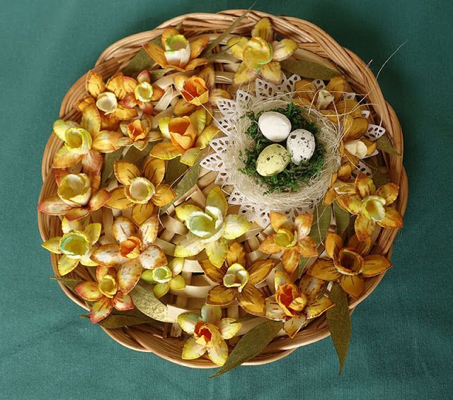 Blog Craft Passion: Kurs na żonkile i świąteczne życzenia/ Daffodils tutorial and easter wishes.