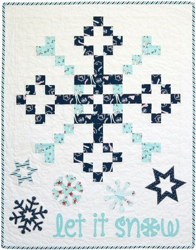 """""""Let it Snow"""" designed by Jemima Flendt for Tied With A Ribbon."""