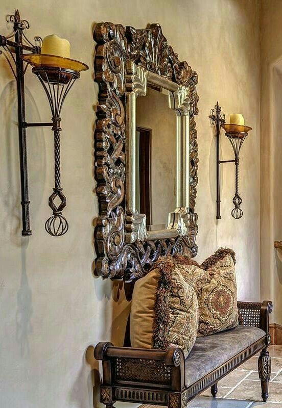 333 best spanish colonial images on pinterest for Colonial foyer ideas