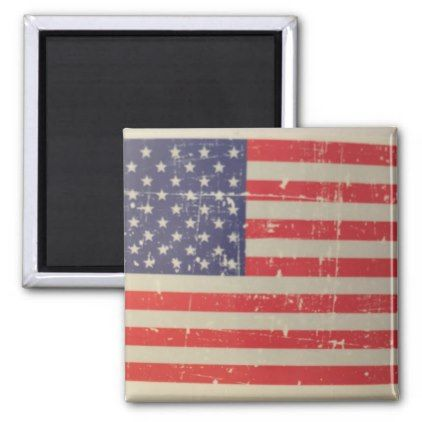 Weathered Distressed American USA Flag Magnet - home gifts ideas decor special unique custom individual customized individualized