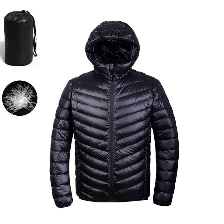 [!!] การเปรยบเทยบราคา 2017 Autumn Winter Duck Down Jacket Ultra light Men 90% Coat Waterproof Down Parkas Fashion mens collar Outerwear coat 5011