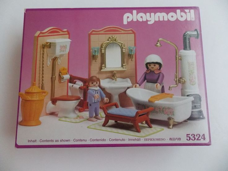 PLAYMOBIL Victorian Bathroom 5324 for 5300 MANSION DOLL HOUSE New in Box NISB #PLAYMOBIL