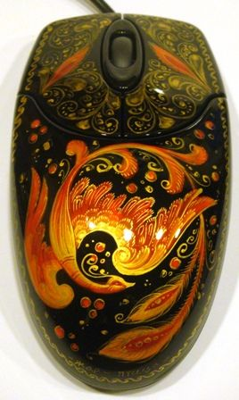 Russian lacquer computer mouse design of The Firebird