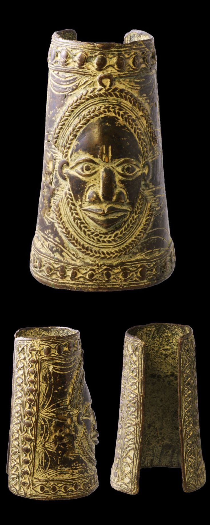Nigeria Currency anklet from the Yoruba people Brass