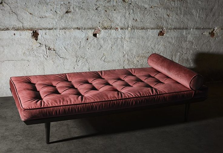 Layered's Ritzy Daybed Burnt Rose. The fabric of the sofa is resistant polyester velvet. Europe Free Shipping. See more at: http://layeredinterior.com/product/ritzy-daybed/