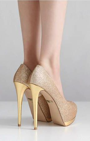 1000  ideas about Gold Wedding Heels on Pinterest | Gold heels ...