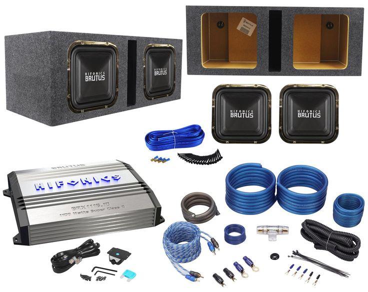 17 best ideas about car audio loudspeaker enclosure package 2 hifonics brz12sqd4 12 dual 4 ohm square