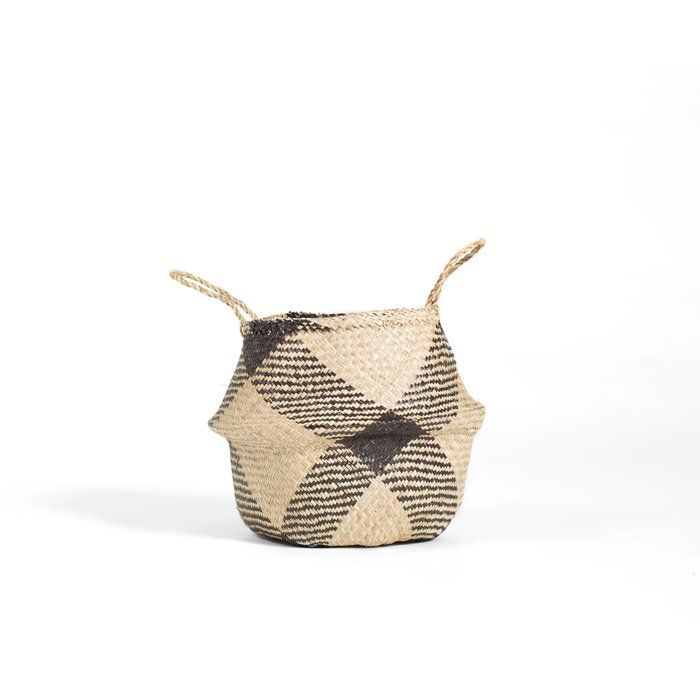 Handmade and carefully woven from natural material, these eco-friendly baskets look playfully cute and lend bountiful storage space around the home. The Seagrass Basket is a simple piece ideal for keeping plants, holding toys or even taking out for a picnic in the park with its ultimately study handles. Lightweight and flexible, this piece is also great for folding down or moving around. Mix and match colors for a fun and eclectic design.