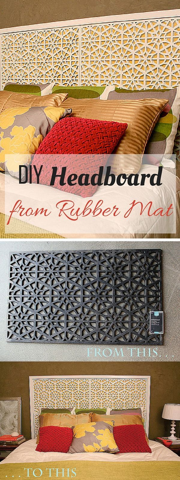 Check out the tutorial: #DIY Rubber Mat Headboard