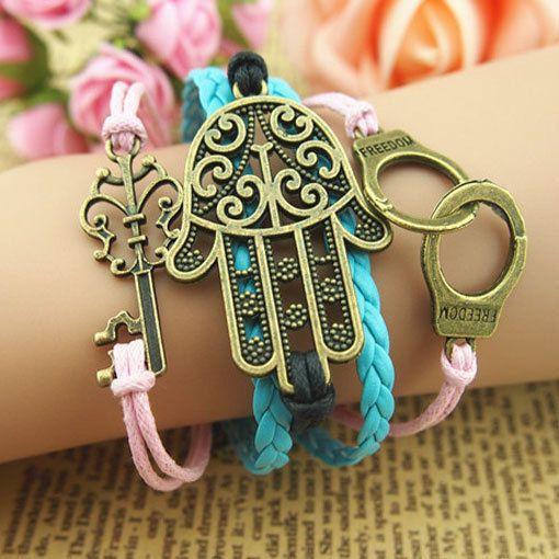 Charm Bracelet,Classic Key Bracelet,palm Bracelet,fashion handchain,girl boy gift