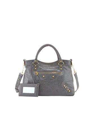 Giant 12 Golden Town Bag, Dark Gray by Balenciaga at Neiman Marcus.