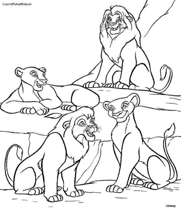 Disney Coloring Pages Lion King Family 1 Disney Coloring Pages Lion King Drawings Lion King Pictures
