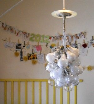 how to make a chandelier out of light bulbs... really cool project. I can see so many variations on this in my mind.: Lamps, Bulbs Lights, Crafts Ideas, Lights Fixtures, Reuse Recycled, Diy Lights, Upcycled Lightbulbs, Lights Bulbs, Lightbulbs Chandeliers