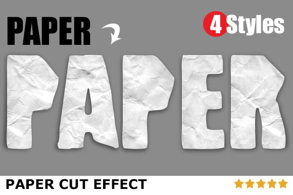 Paper Cut Effects by Design Arsenal on Creative Market