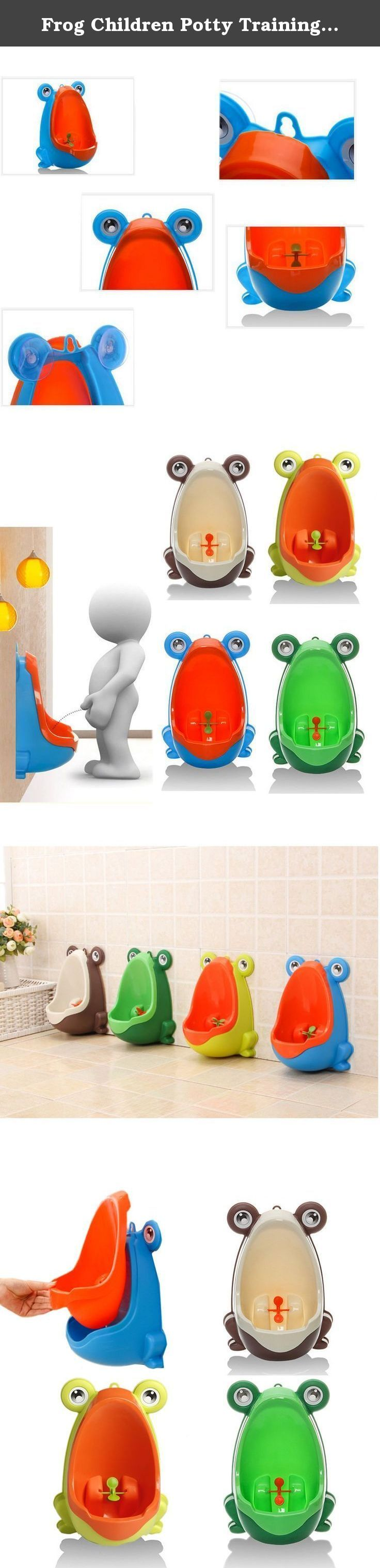 Frog Children Potty Training Toilet Kids Urinal For Boys Pee Trainer Bathroom-BLUE. Shipment : Shipping to: Americas, Europe, Asia Excludes: APO/FPO, Austria, Switzerland, Spain, Hong Kong, Kuwait, Cameroon, Japan, China, Taiwan, Jordan, Macau, Germany, Argentina, Italy, Palau, French Polynesia, Jersey, Bolivia Descriptions: 100% brand new and high quality Environmentally friendly material, nontoxic and no peculiar smell . Frog shape and rotating windmill improves your babies' interest....