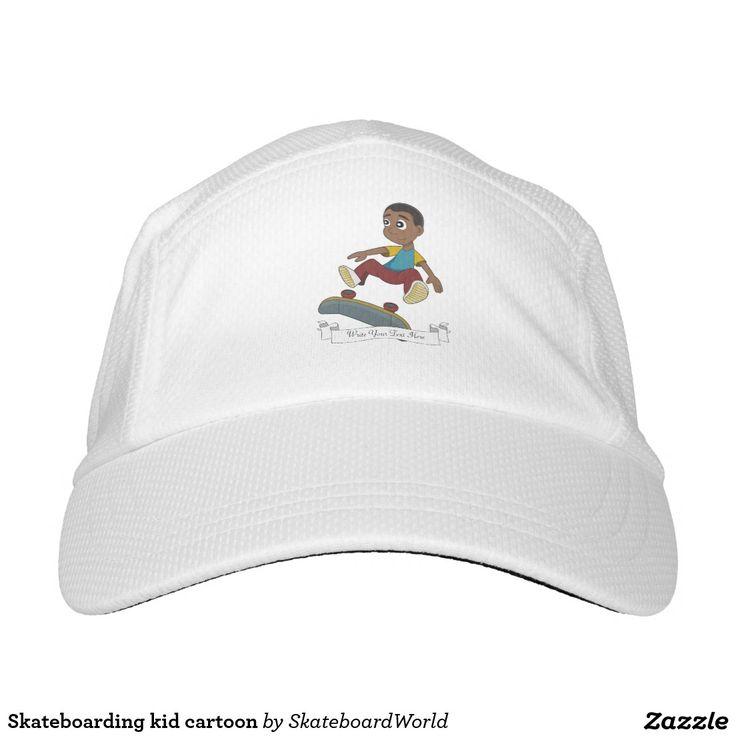 Skateboarding kid cartoon headsweats hat