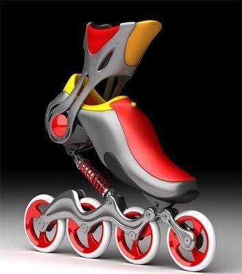 In-line skates - Patines en línea con amortiguador.