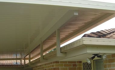 Patio roof - flyover with fascia posts More