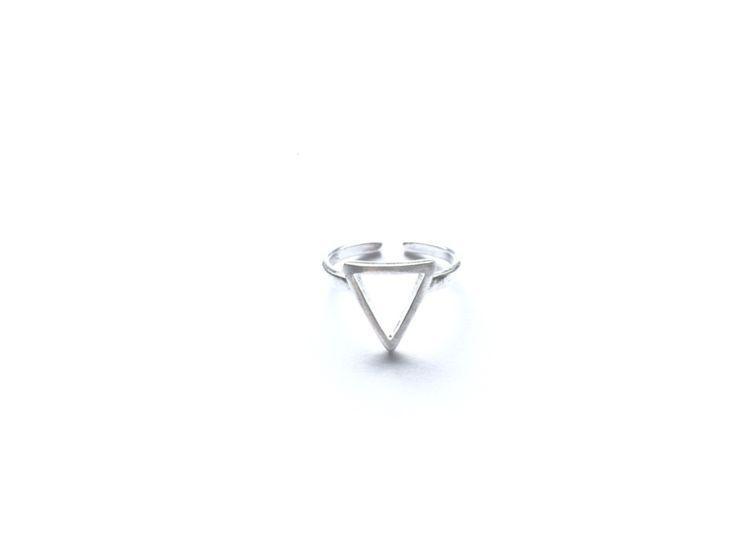 Ring open driehoek (sterling zilver 925)