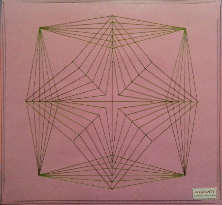 16 best String \/ Thread Arts images on Pinterest Carton box - triangular graph paper