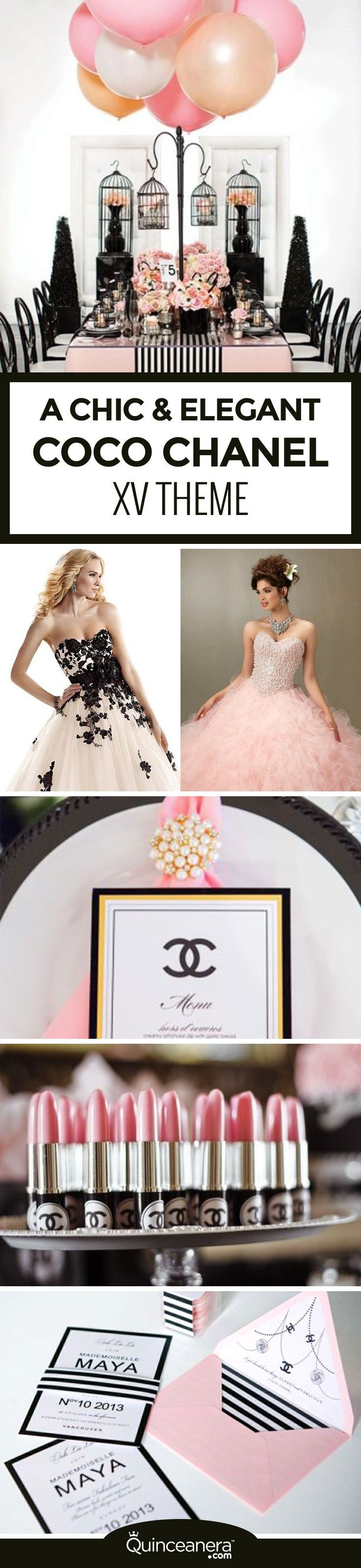 Take a look at the galleries we prepared for you to plan the best Coco Chanel Quinceanera theme of the year! - See more at: http://www.quinceanera.com/decorations-themes/coco-chanel-quinceanera-theme/?utm_source=pinterest&utm_medium=social&utm_campaign=article-012616-decorations-themes-coco-chanel-quinceanera-theme#sthash.hABuo69L.dpuf