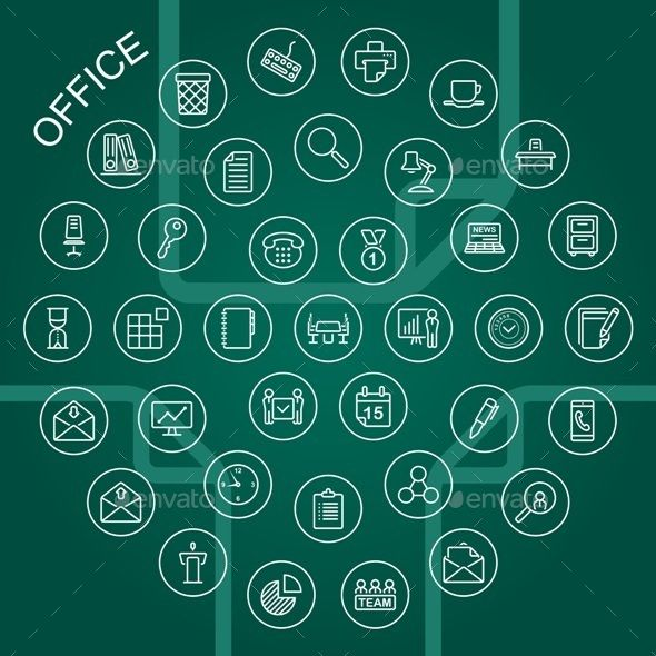 Vector Line Icons  Office — JPG Image #partner #icon • Available here → https://graphicriver.net/item/vector-line-icons-office/9290965?ref=pxcr