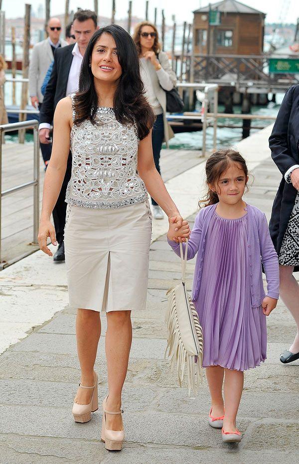 La estricta estilista de Salma Hayek: su hija, Valentina, la regaña cuando no se arregla