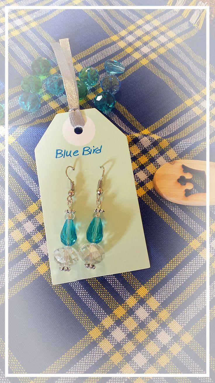 Swarovski crystal earrings by BlueBirdjewel on Etsy