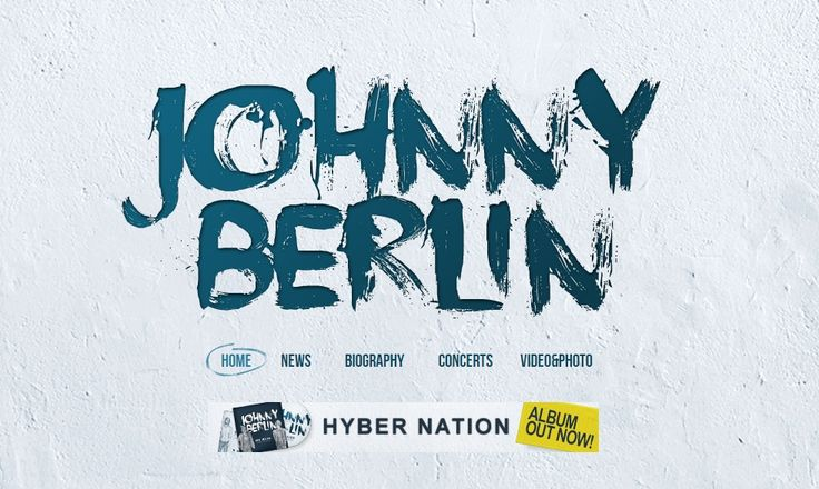 Johnny Berlin  #bigtypography #appdesign