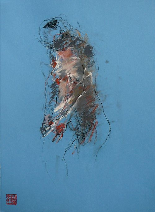 Capturing the essence…beautiful work in lines and color…    nearlya:    Caroline Deane, small pastels