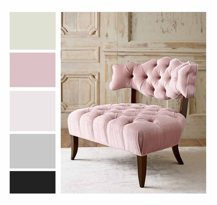 Whites, Warm Greys, Green undertones (Dimpse), Light Pink and Black : Antique chair colour swatch