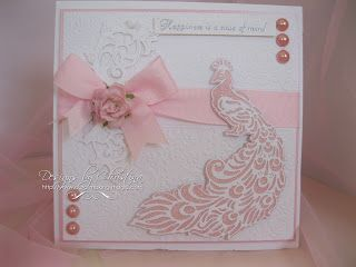 Flowers, Ribbons and Pearls: Pink Peacock