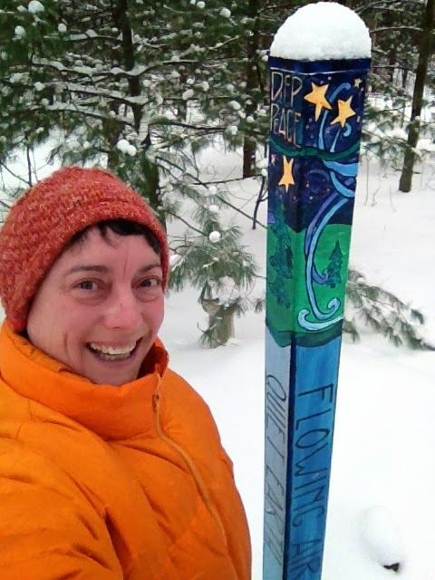 Scribbling With Spirit: DIY Peace Pole For Garden Art