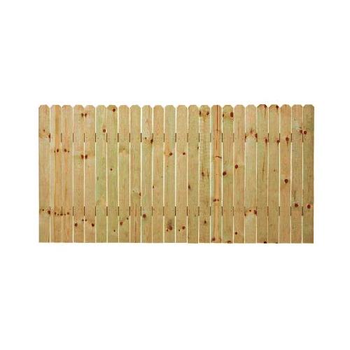Zoomed 4 Ft X 8 Ft Spruce Dog Ear Wood Fence Panel