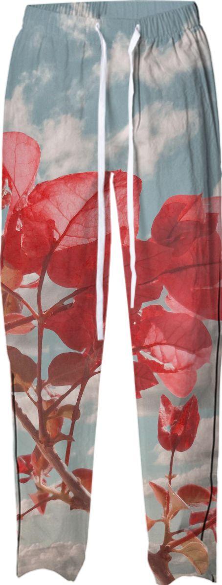 Cute Floral Print Pajama Pant by #dflcprints