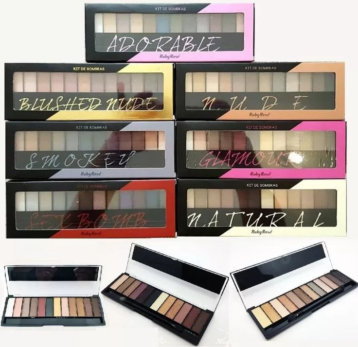 @assisjoanna6 kit maquiagem 3 paletas sombra fosca 3d ruby rose atacado Imitando as NAKED dá urban decay @assisjoanna6