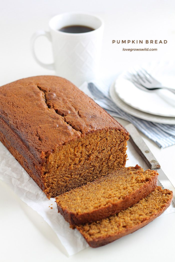 This pumpkin bread recipe will knock your socks off! Sweet, moist, and bursting with pumpkin flavor! Bakes perfectly every time. A must-make this fall!