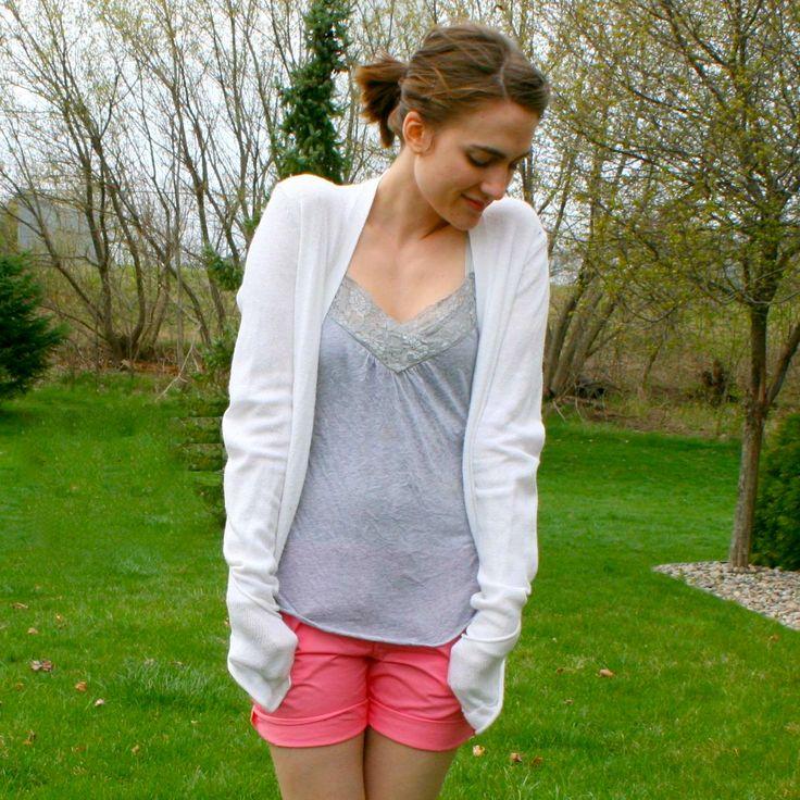 la vie DIY: J.Crew Pants to Shorts Refashion (no sew option!)