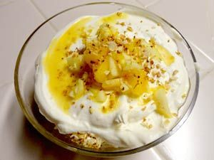 Mango Apple Trifle, Chef Christian Jorgensen's recipe. Prepared and photographed by Jennifer Johnson.