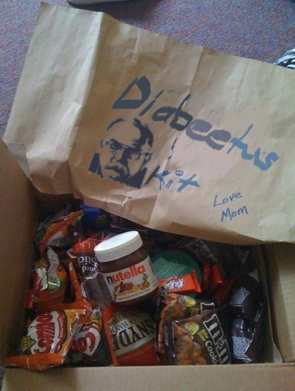 this is awesome LOLOL: Exam Energy, Energy Kit, Gift Ideas, College, Funny, Care Packages, Mom, Diabeetus Kit, Kid