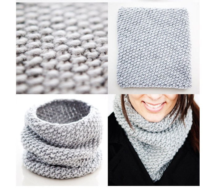 Seed cowl knit pattern:   http://lizajlee.com/images/seedcowl.pdf