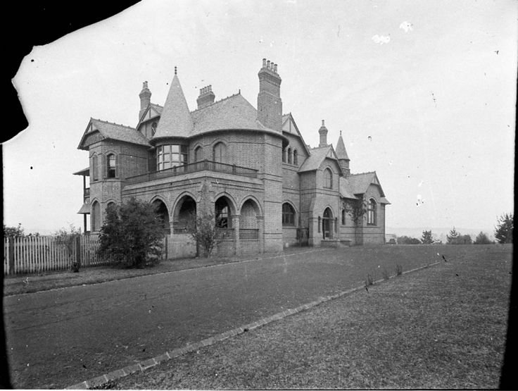 Camelot 1905 / John Horbury-Hunt architect / Mansion of Mrs White,owner of the racehorse Carbine,Camden,in south western Sydney in c1905.Photo from Dictionary of Sydney.A♥W