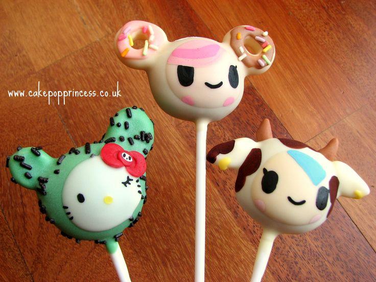Tokidoki cake pops, Cactus Kitty, Donutella, Moofia Cow