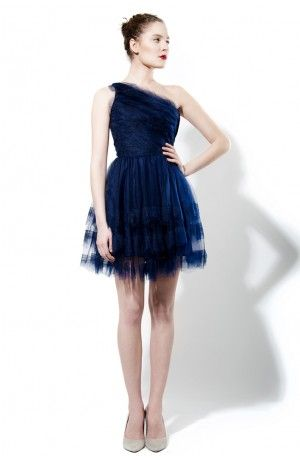 ONE SHOULDER TULLE DRESS - Rhea Costa-Shop