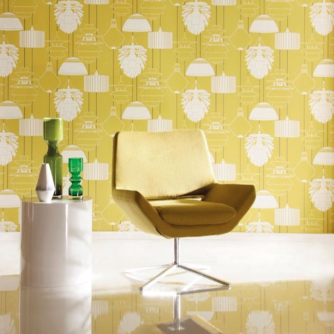 Harlequin Identity Illuminate wallpaper, availabe in 6 different colours.