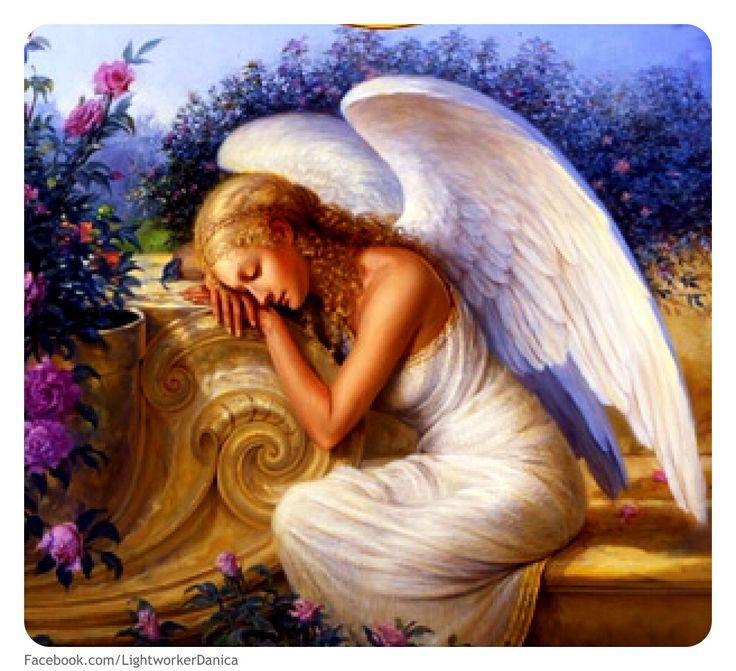 Serenityu0027s Garden, Angel Art, Angel Paintings By Renowned Painter Ed  Tadiello.
