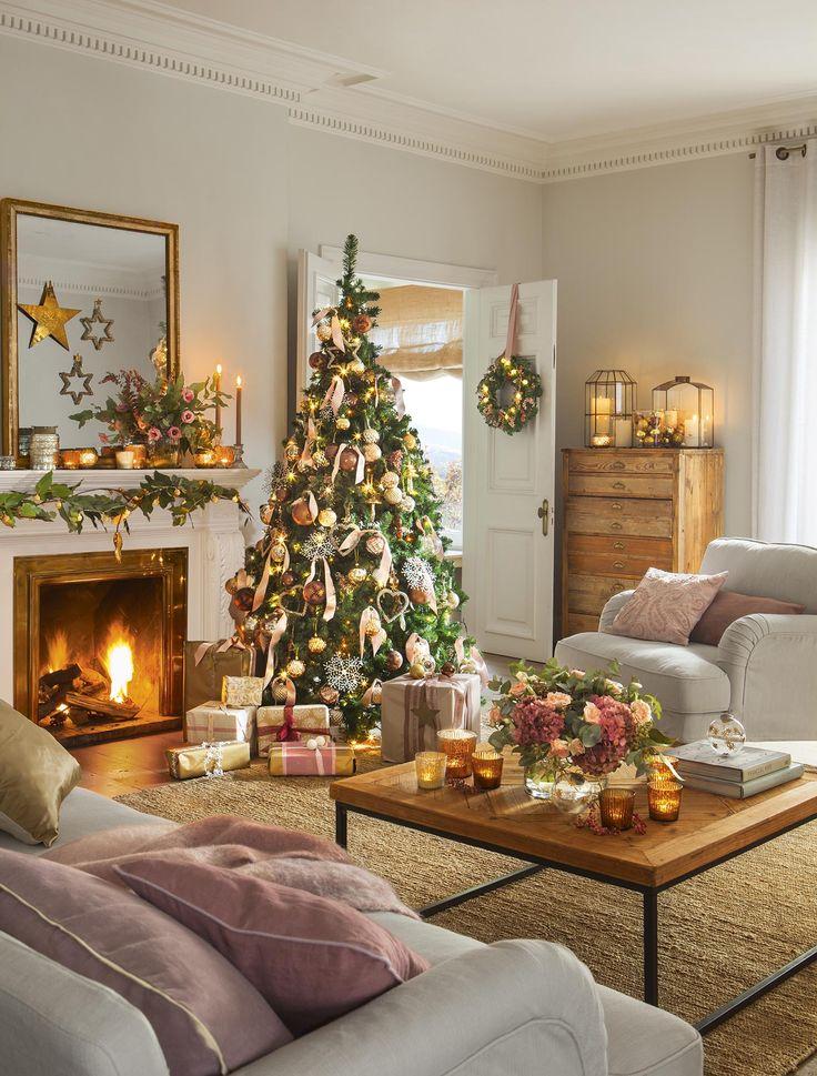 Las 25 mejores ideas sobre decorado de salones en for Salones decorados para navidad