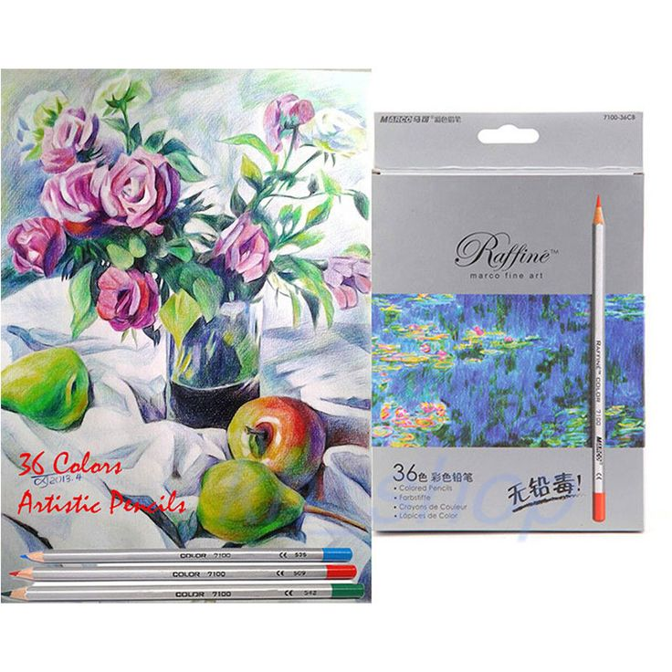 High Quality Marco Color Pencils Fine Art Drawing Oil Base Non-toxic Set For Artist Sketch