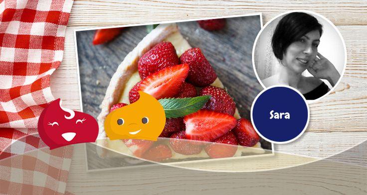 #Crostata morbida con crema al limone e fragole di Sara #ricette #ricetta #ricettedolci